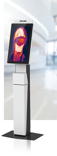 Touchless Temperature Sensing Kiosk