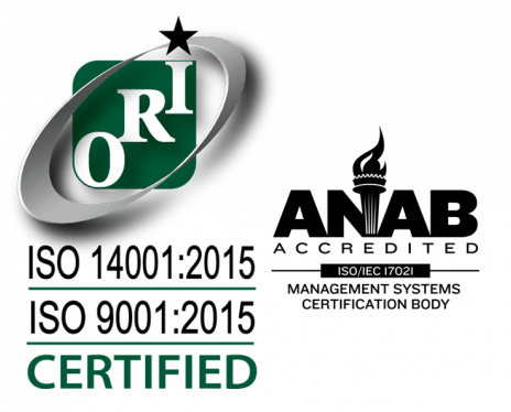 ISO 14001-2015 ISO 9001-2015 with ANAB