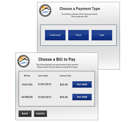 Kiosk Bill Payment Software