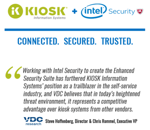 Kiosk Managed Services and Intel Security Quote